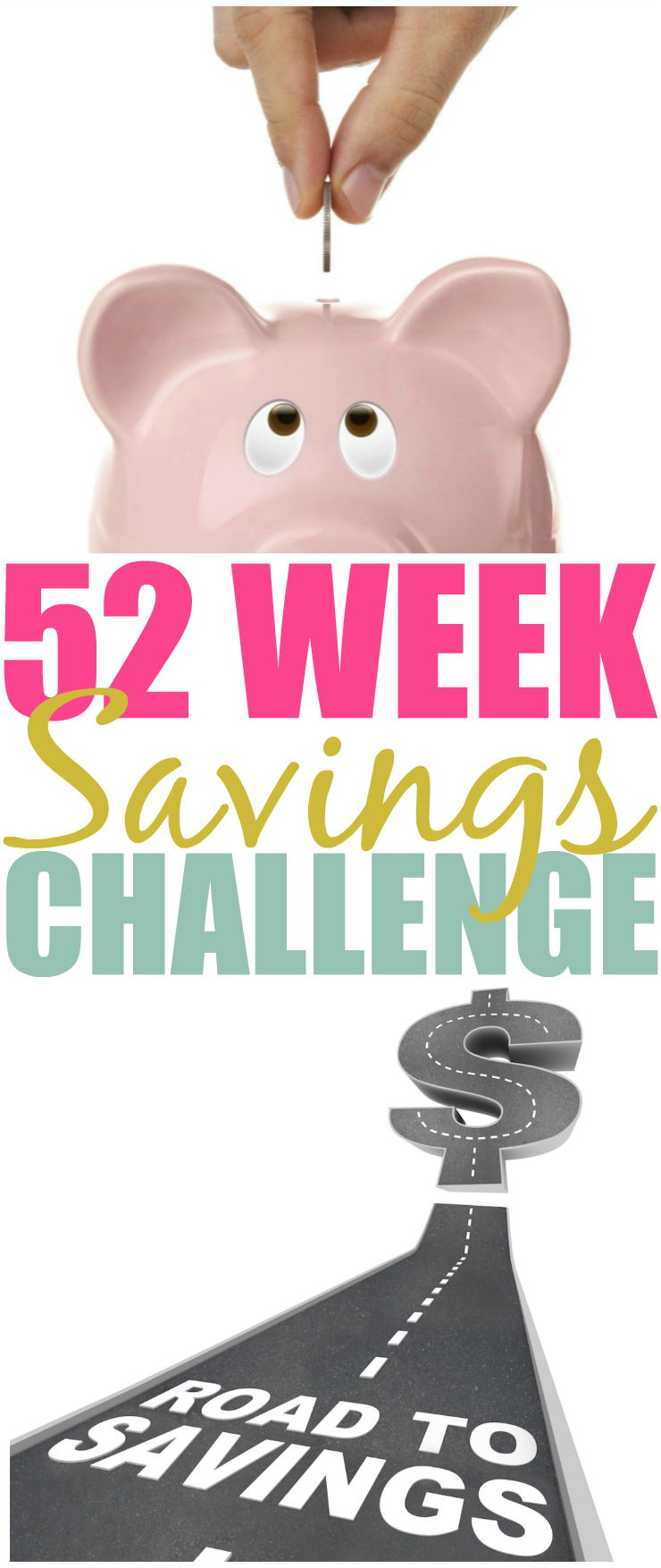 Dreaming of a vacation? Need to pay off debt? Try the 52 Week Money Savings Challenge & watch the money add up. Print your tracking sheet over on the blog!