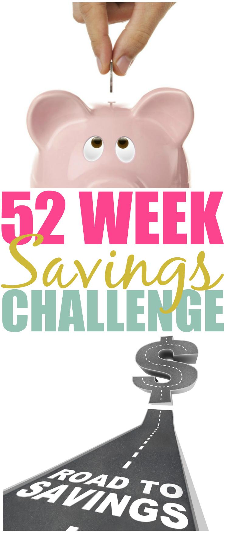 52 Week Money Savings Challenge Pin