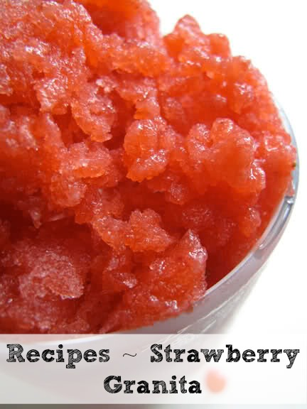 Strawberry Vodka Granita Recipe — Dishmaps