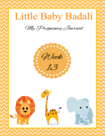Little Baby Badali: My Pregnancy Journey ~ Week 13