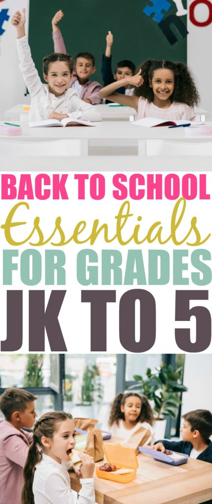 Back To School Essentials For Grades JK to 5