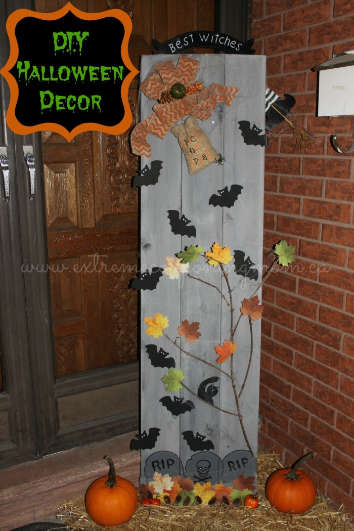 diy frugal fun halloween decor tutorial extreme couponing mom. Black Bedroom Furniture Sets. Home Design Ideas