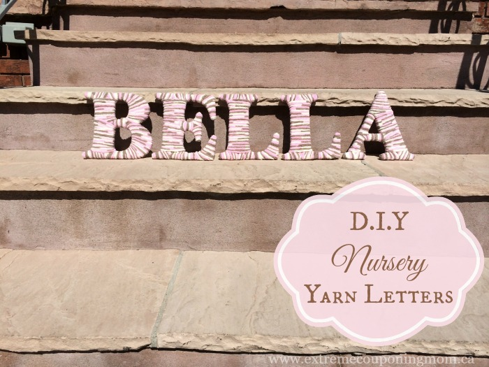 DIY Yarn Wrapped Letters