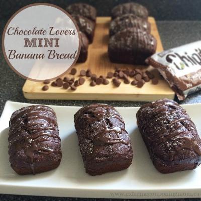 Chocolate Lovers Mini Banana Bread Recipe
