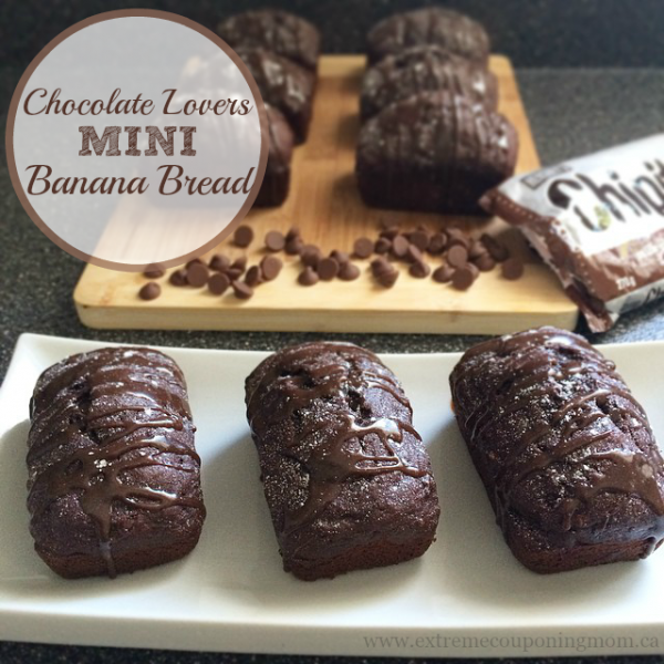 Chocolate Lovers Mini Banana Bread #Recipe