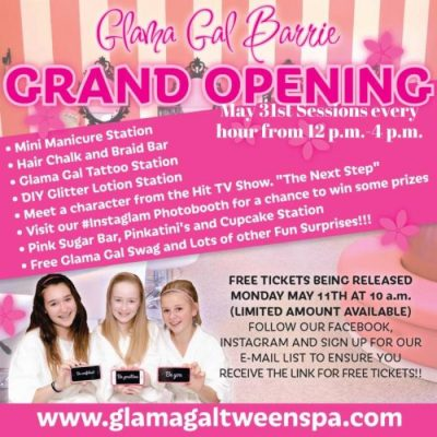 Glama Gal Tween Spa Barrie Is Now Open + Grand Opening Giveaway #GGBarrie