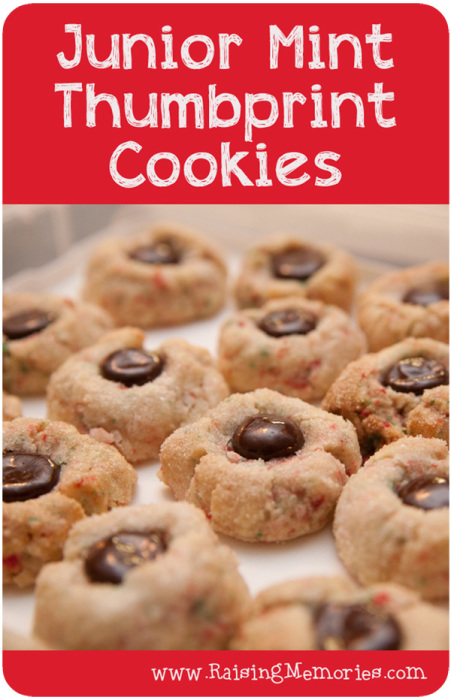 Junior Mint Thumbprint Cookies - Raising Memories