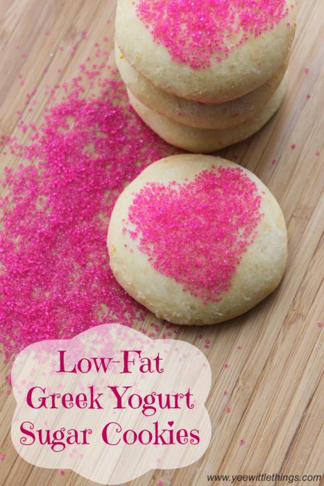 Low-Fat Greek Yogurt Sugar Cookies | Yee Wittle Things