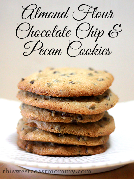 Almond Flour Chocolate Chip and Pecan Cookies | This West Coast Mommy