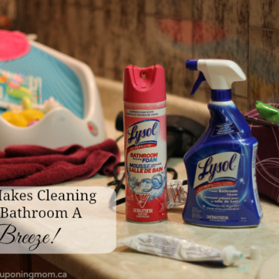Lysol® Makes Cleaning Your Bathroom A Breeze #ToiletToTubClean