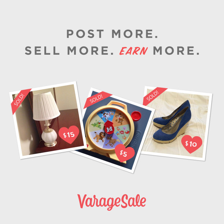 VarageSale Post More Sell More Earn More