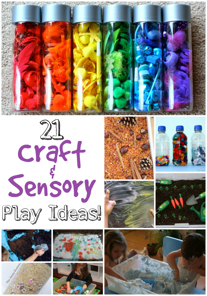 21 Craft & Sensory Play Ideas