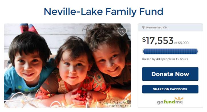 Neville-Lake Family GoFund Me