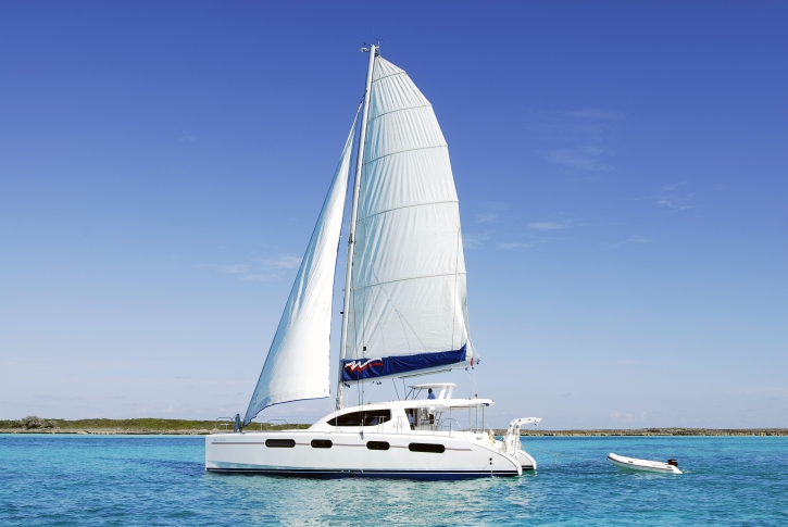 The Moorings catamaran in the Abacos
