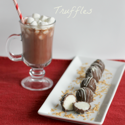 Soft & Chewy Chocolate Coconut Truffles Recipe