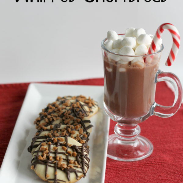Toffee & Chocolate Drizzle Whipped Shortbread Cookies Recipe