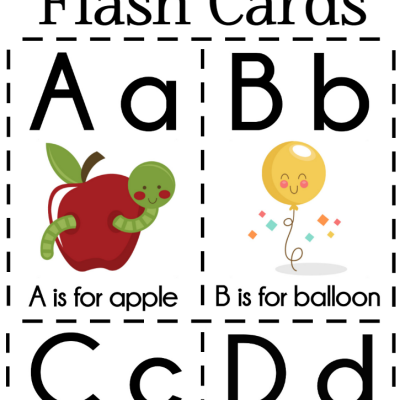 DIY Alphabet Flash Cards FREE Printable
