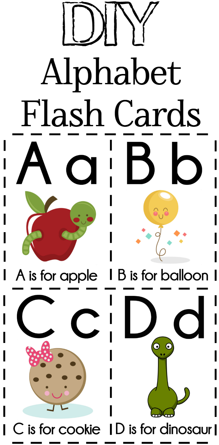 photo regarding Alphabet Cards Printable called Do it yourself Alphabet Flash Playing cards Totally free Printable - Excessive Couponing Mother
