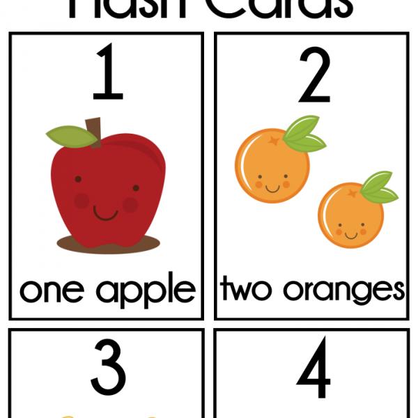 DIY Number Flash Cards FREE Printable