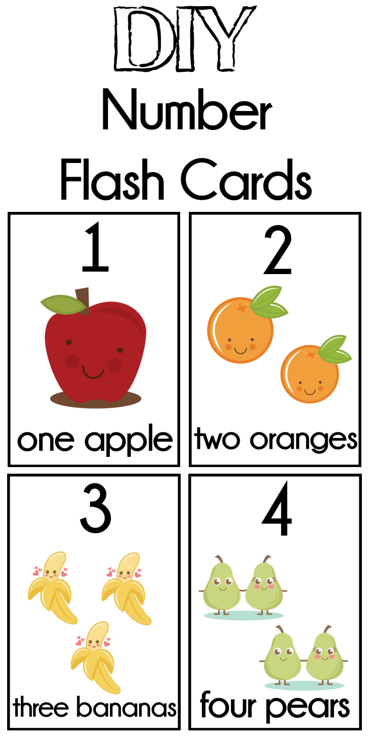 DIY Number Flash Cards FREE Printable