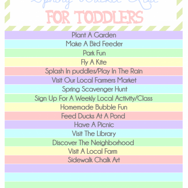 Spring Bucket List For Toddlers