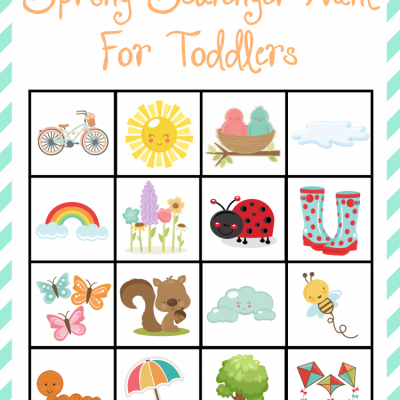 Spring Scavenger Hunt For Toddlers