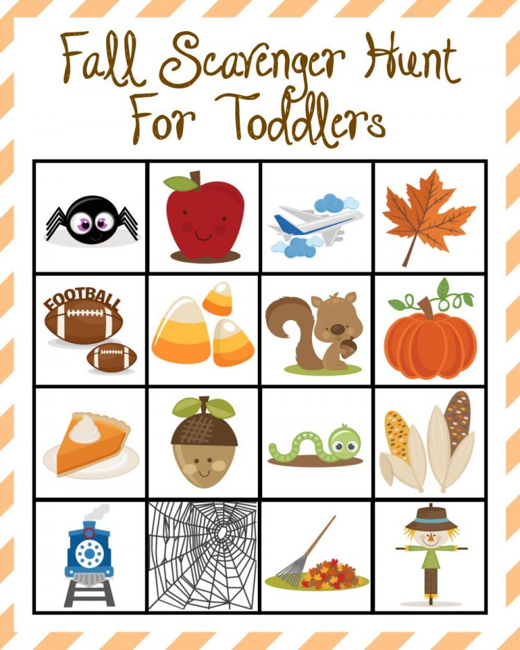 Fall Scavenger Hunt For Toddlers