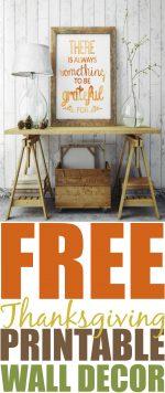 Thanksgiving Decor FREE Printable