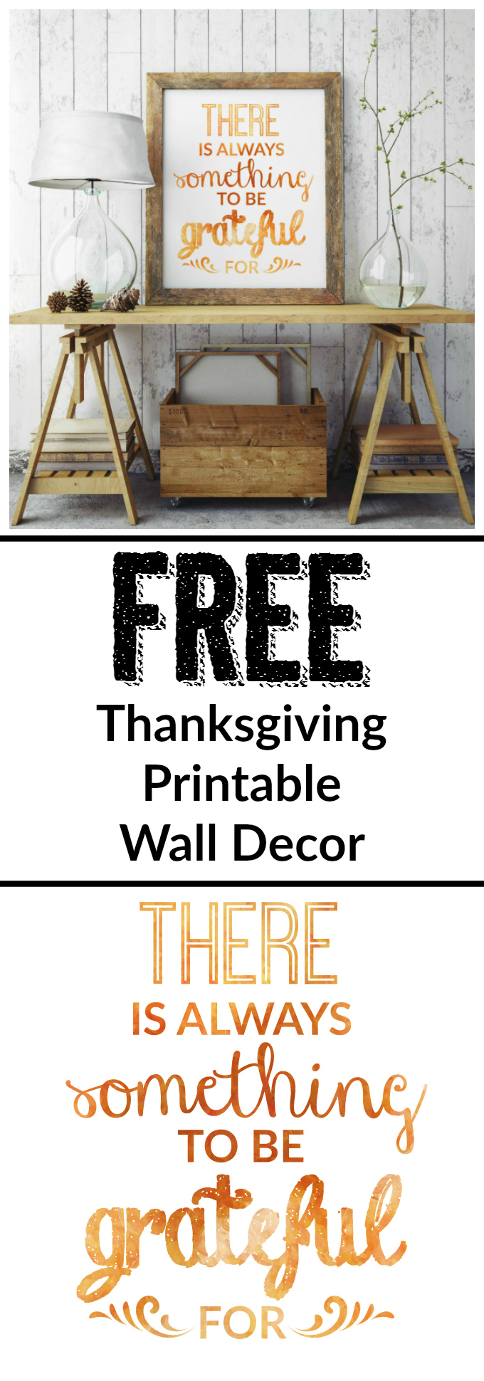 Printable Wall Decor Pinterest : Thanksgiving decor free printable inspirational wall art