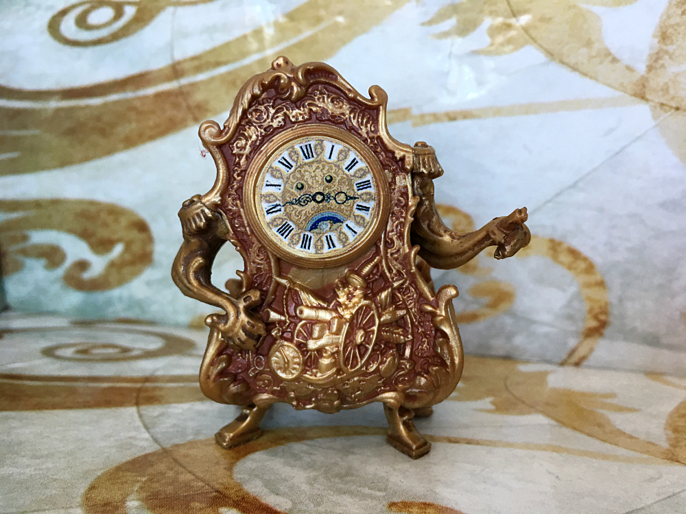 Disney's Beauty and the Beast Castle Friends Collection Cogsworth