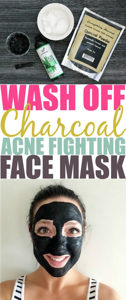 Wash Off DIY Charcoal Face Mask