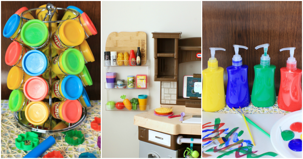 Amazing Mom Hacks To Organize Your Child's Toys And Crafts