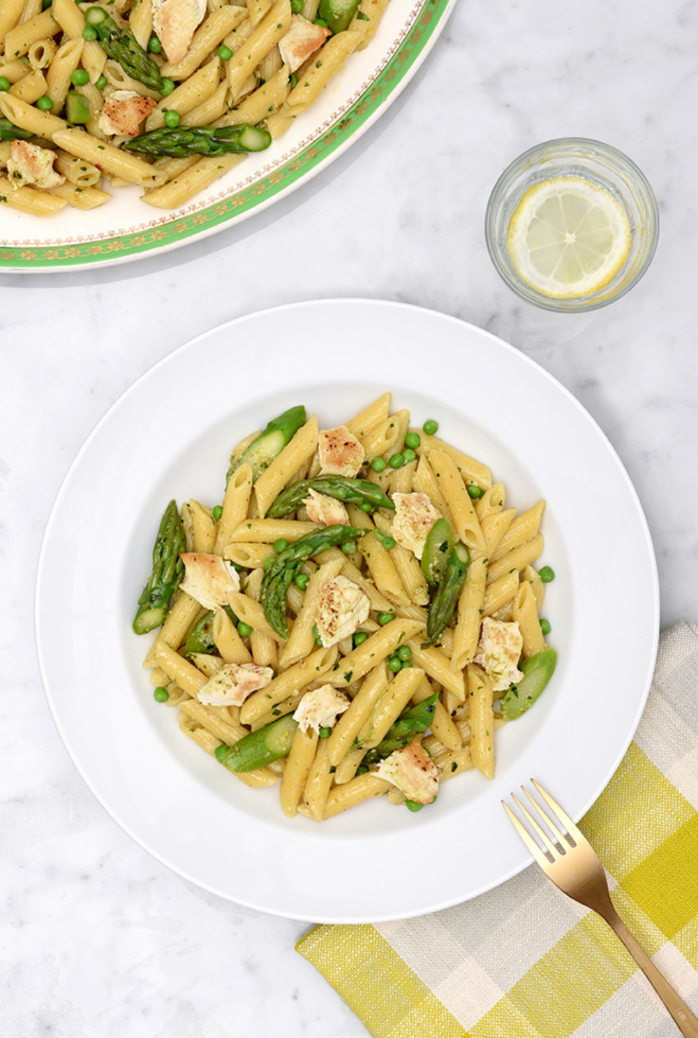 Canadian Turkey Spring Veggie, Herb Pesto and Turkey Pasta