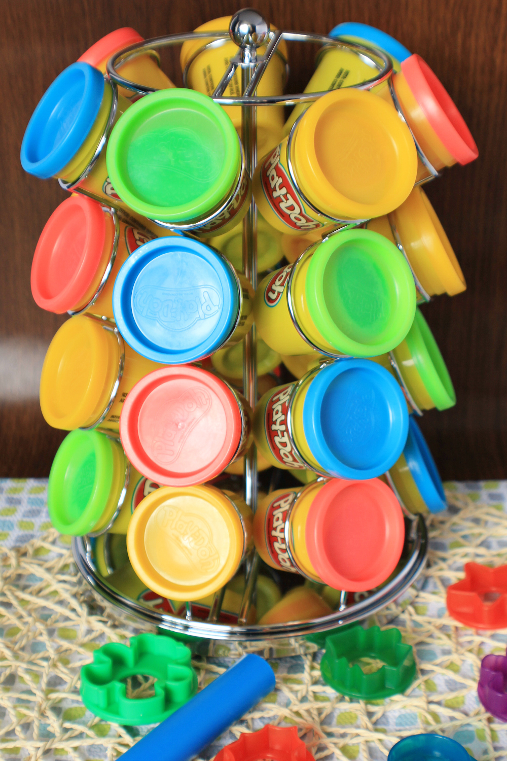 Coffee Pod Carousel Play-Doh Holder Mom Hack
