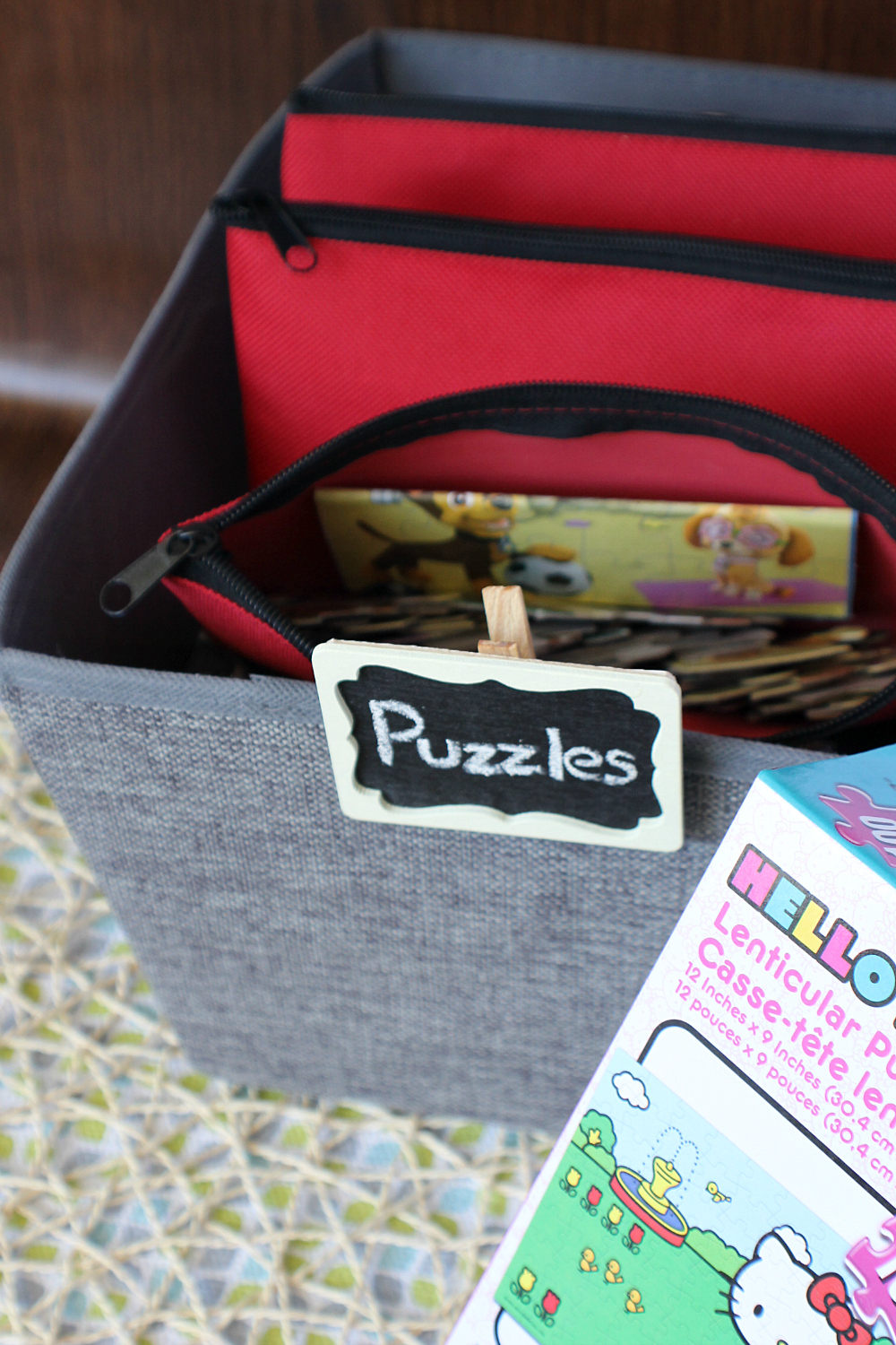 Pencil Case & Fabric Bin Puzzle Storage Mom Hack
