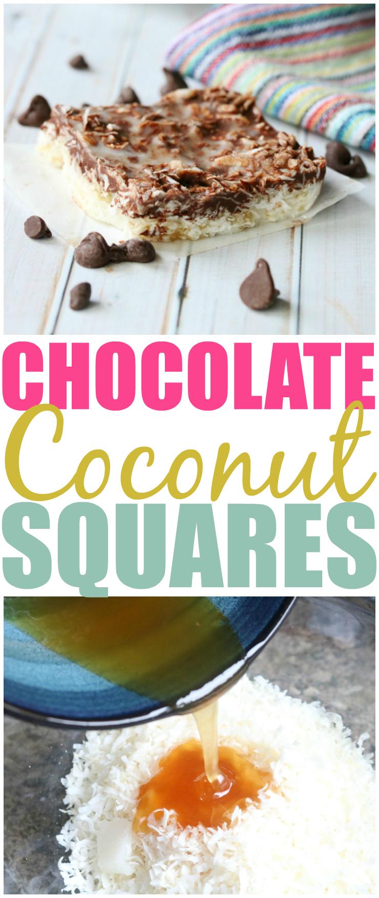 Chocolate Coconut Squares Pin