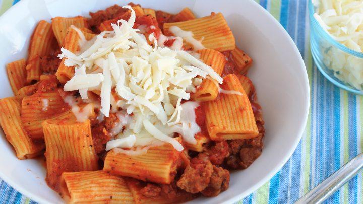 Instant Pot Sausage Rigatoni Pasta