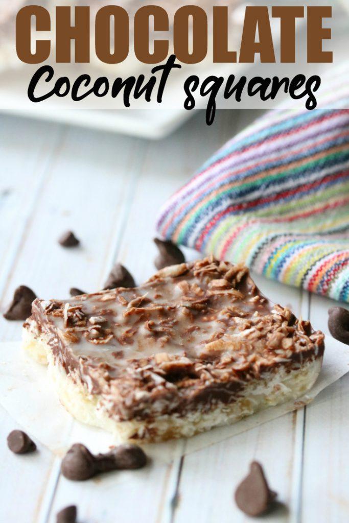 No-Bake Chocolate Coconut Squares