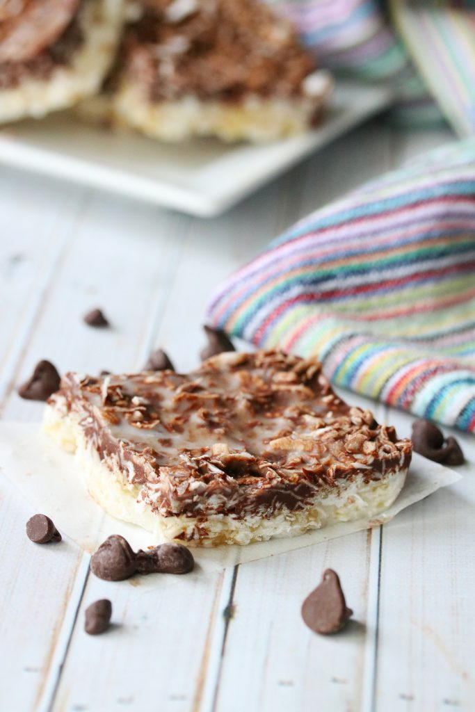 No-Bake Chocolate Coconut Squares