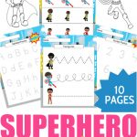 Boy Superhero Preschool Learning Printable Package