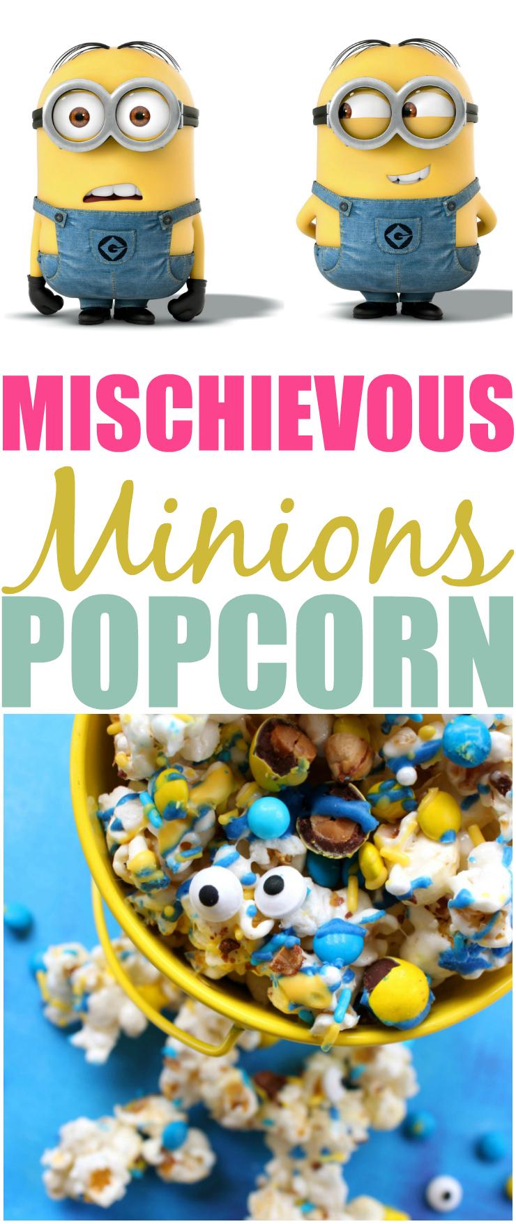 Minions Popcorn Recipe Despicable Me 3