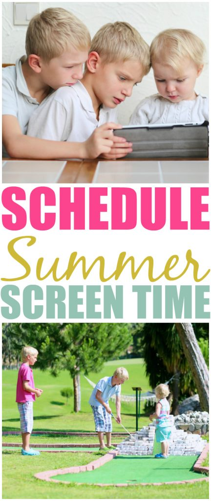 Setting A Schedule For Screen Time This Summer Facebook 2
