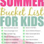 Printable Kids Summer Bucket List