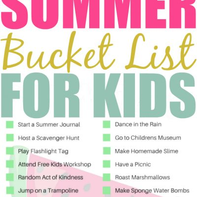 Printable Kids Summer Bucket List