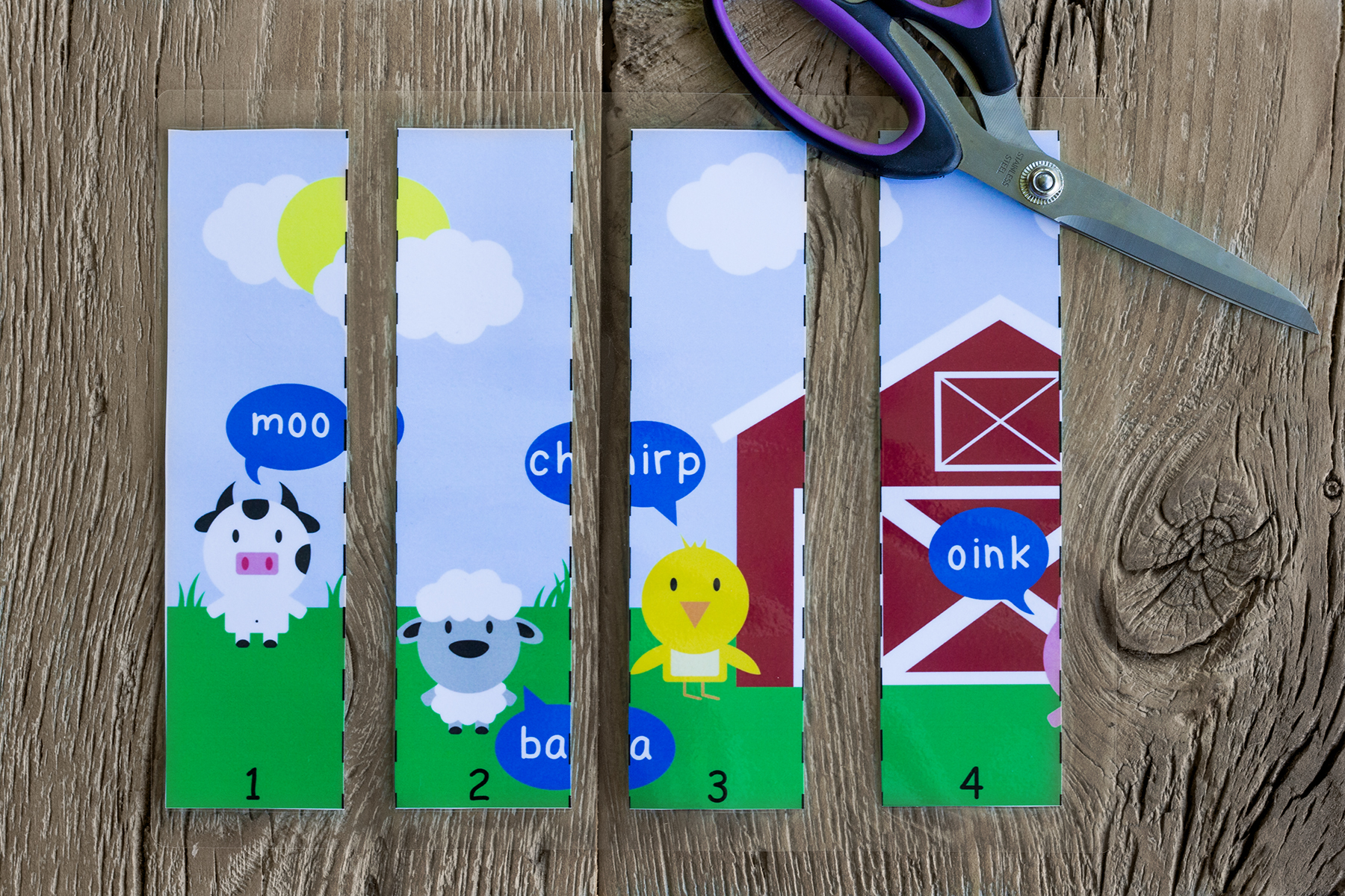 At The Farm Printable Puzzle