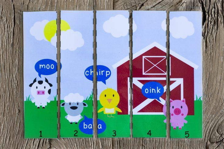 Old MacDonald Had A Farm Printable Puzzle