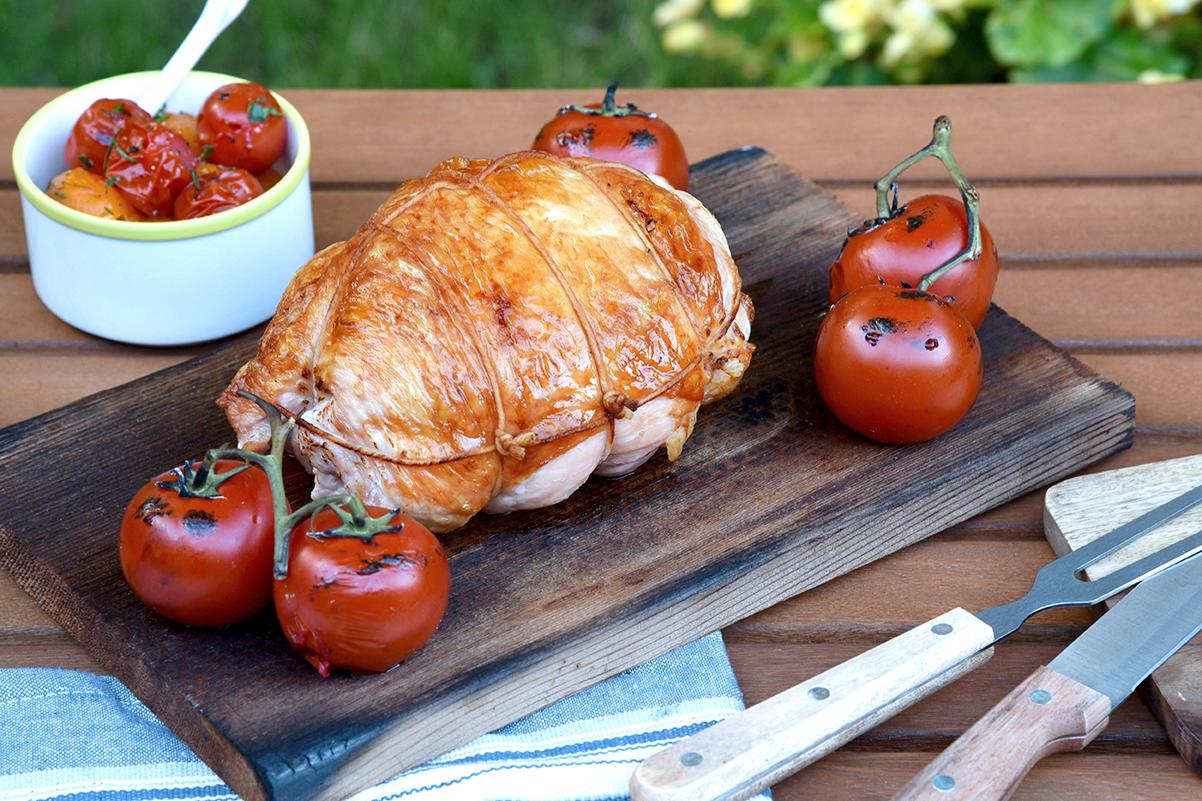 Cedar Plank Grilled Turkey Breast With Charred Tomato Salsa 5