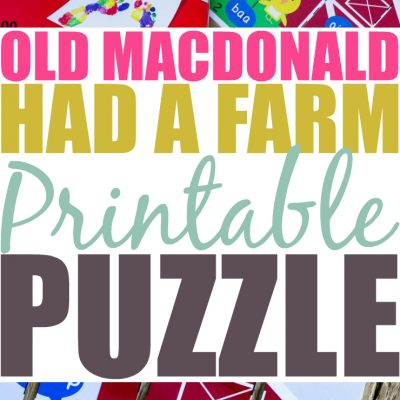 Old MacDonald Had A Farm Printable Puzzle