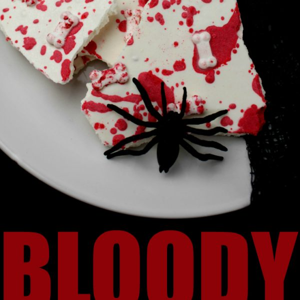 Bloody Delicious Bones Halloween Bark