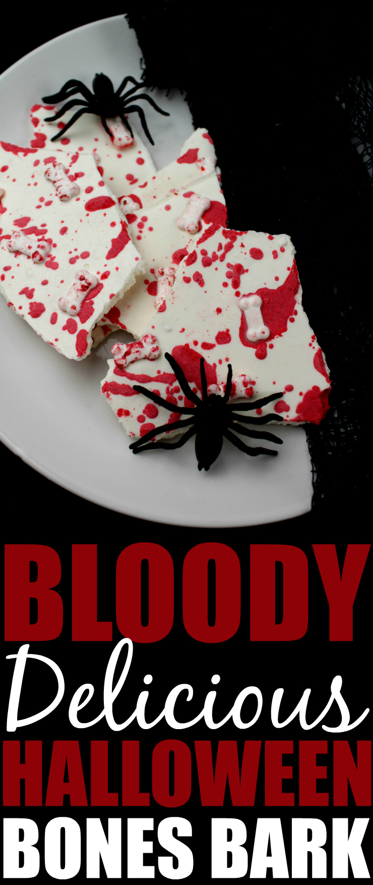 Bloody Delicious Bones Halloween Bark Pinterest